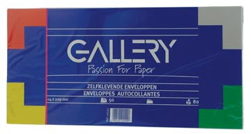 Gallery enveloppen ft 114 x 229 mm, stripsluiting, pak van 50 stuks