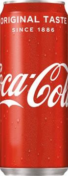 Coca-Cola frisdrank, sleek blik van 33 cl, pak van 24 stuks