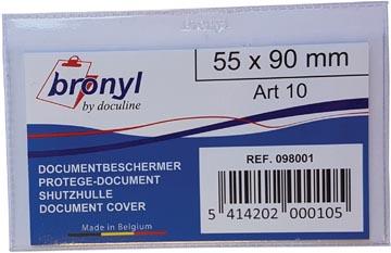 Bronyl U-mapje uit transparante PVC van 140 micron, ft kredietkaart
