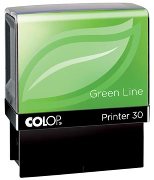 Colop stempel Green Line Printer Printer 30, max. 5 regels, voor Nederland, ft. 18 x 47 mm