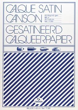 Canson kalkpapier ft 29,7 x 42 cm (A3), etui van 10 blad