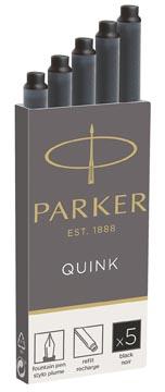 Parker Quink inktpatronen zwart, doos met 5 stuks