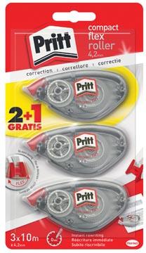 Pritt correctieroller Compact Flex 4,2 mm x 10 m, blister 2 + 1 gratis