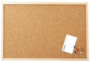 Maul kurkbord met houten frame ft 60 x 100 cm