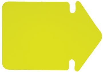 Folia etiketten in fluokarton, 24 cm, fluo geel (pijlen)