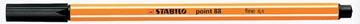 STABILO point 88 fineliner, zwart