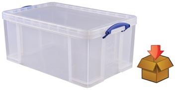 Really Useful Box 64 liter, transparant, per stuk verpakt in karton