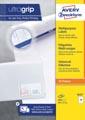 Avery Zweckform 3425, Universele etiketten, Ultragrip, wit, 100 vel, 10 per vel, ft 105 x 57 mm